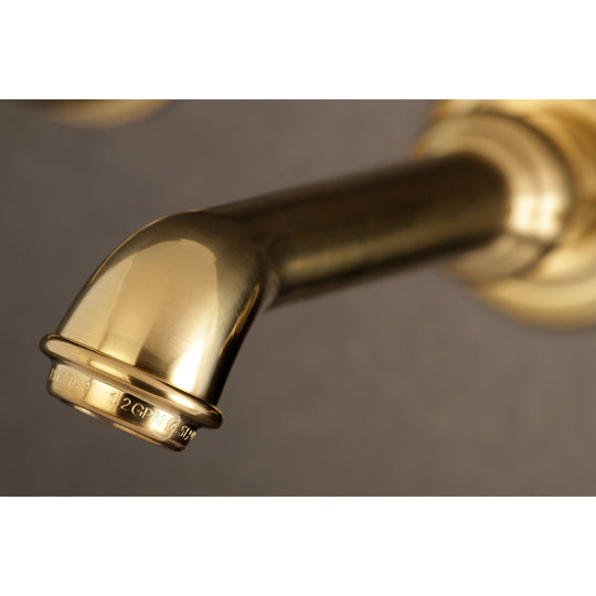 Georgian Two Handle Wall Mount Bathroom Faucet