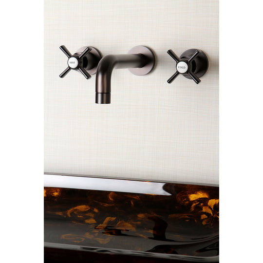 Millennium Two Handle Wall Mount Bathroom Faucet