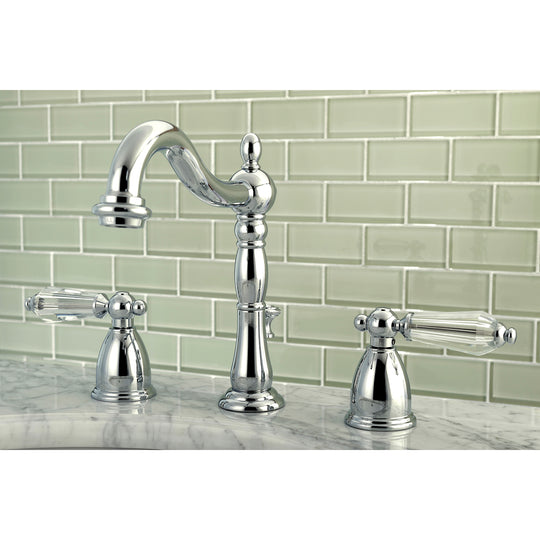 "Wilshire 8 "" Widespread Bathroom Faucet, In 6.1 "" Spout Reach"