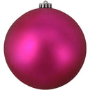 "Load image into Gallery viewer, Shatterproof Matte Pink Magenta Uv Resistant Commercial Christmas Ball Ornament 6"" (150Mm)"