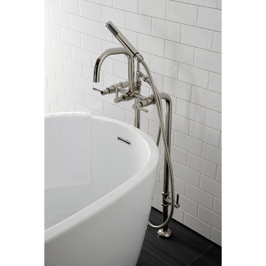 Concord Freestanding Tub Faucet With Supply Line, Stop Valve