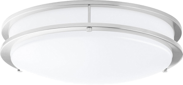 LED Double Ring 12in. Flush Mount - 14 Watt - Dimmable - 4000K - 1100 Lumens Brushed Nickel - LEDMyplace