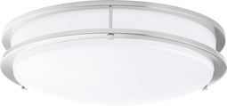 LED Double Ring 12in. Flush Mount - 14 Watt - Dimmable - 1100 Lumens Brushed Nickel