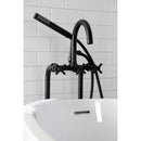 Load image into Gallery viewer, Aqua Vintage Concord Freestanding Tub Faucet With Supply Line, Stop Valve