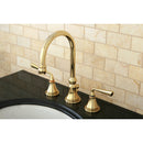 "Load image into Gallery viewer, Silver Sage 8 "" Widespread Lavatory Faucet with Brass Pop-Up"