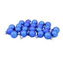 "Load image into Gallery viewer, 24-Piece Shiny and Matte Royal Blue Glass Ball Christmas Ornament Set 1"" (25mm)"