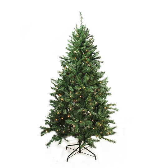 Pre-Lit Traditional Mixed Pine Artificial Christmas Tree - Clear Lights Bright Gate