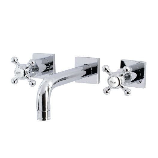 Metropolitan Two Handle Wall Mount Bathroom Faucet In 3.1