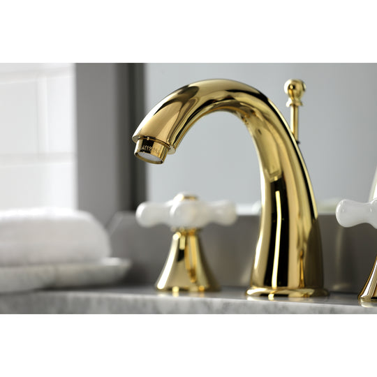 Naples Traditional Widespread Bathroom Faucet, 8 Inch