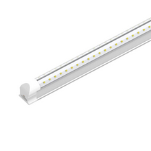 Load image into Gallery viewer, T8 Integrated LED Tube Light 60W - 8ft V Shape High Output 6500k - Clear Lens Cover