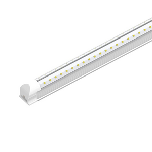 T8 Integrated LED Tube Light 60W - 8ft V Shape High Output 6500k - Clear Lens Cover