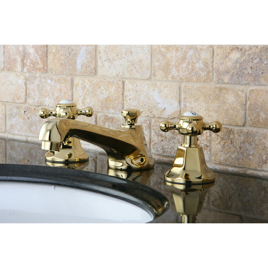"Metropolitan 8 "" Widespread Bathroom Faucet With Brass Pop-Up"