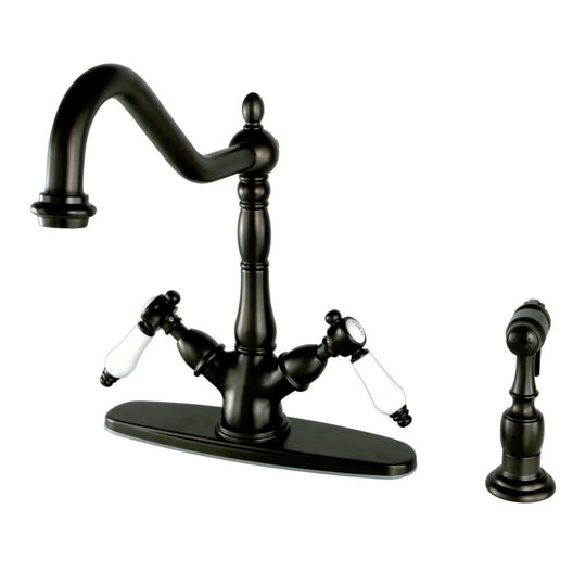 Bel Air Mono Deck Mount Kitchen Faucet With Brass Sprayer