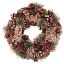 "Load image into Gallery viewer, 13.75"" Dusty Rose Pine Cones and Berries Artificial Christmas Wreath - Unlit"
