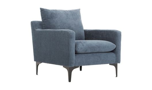 Stylish Paris Armchair With Steel Legs - Perfect Chair For Accent Living Room