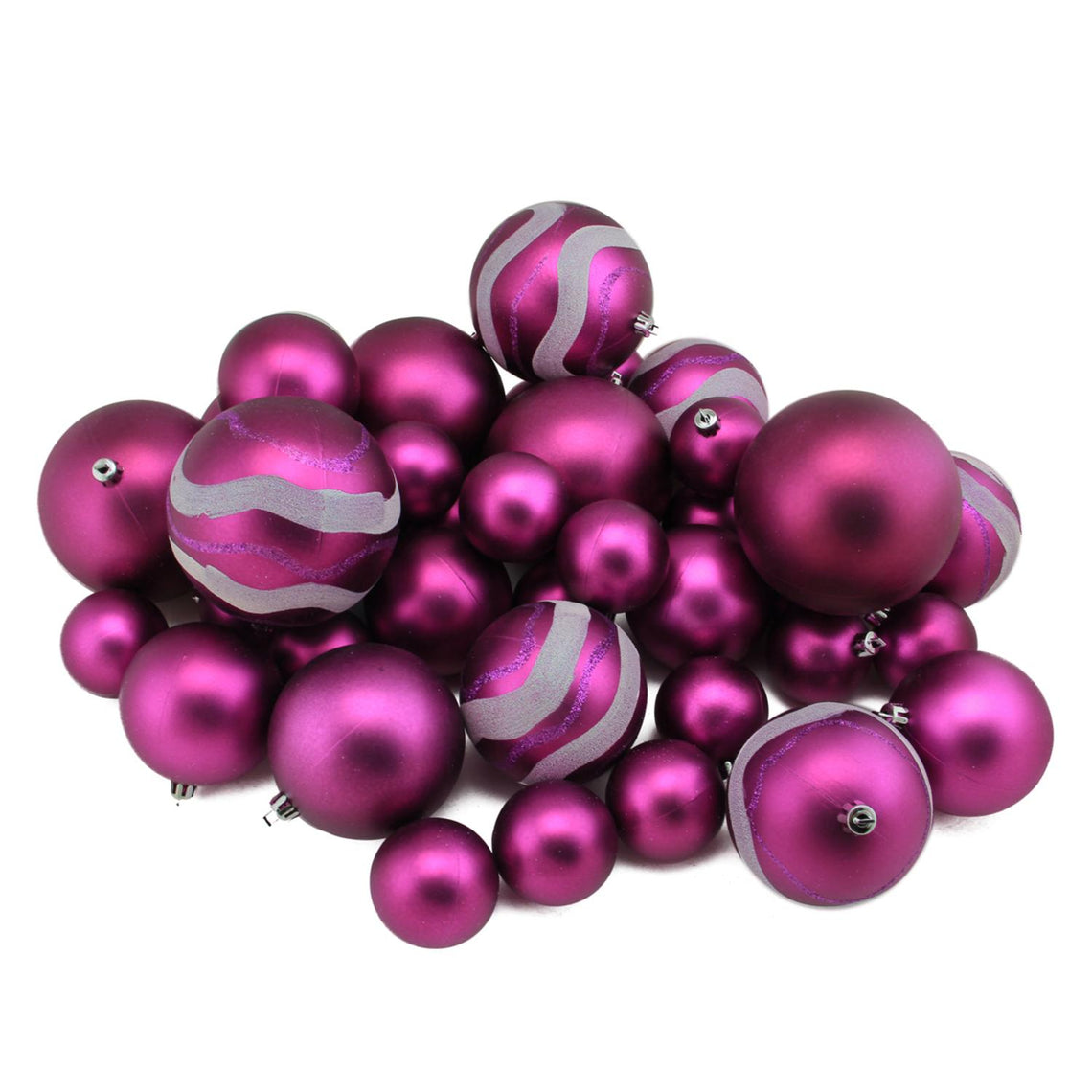 Matte And Glitter Shatterproof Christmas Ball Ornaments 2.4