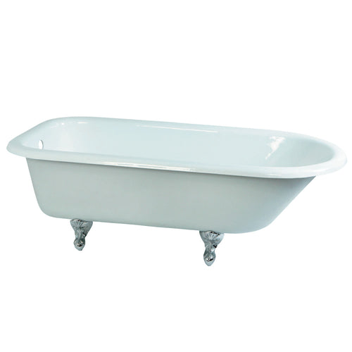 Cast Iron Roll Top Clawfoot Tub (No Faucet Drillings)