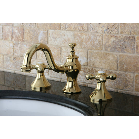 "Vintage 8 "" Widespread Bathroom Faucet In Cross Handle"