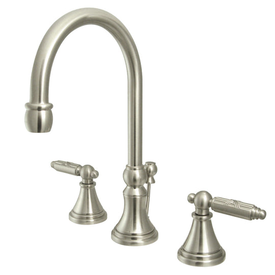 "Fauceture 8 ""Widespread Bathroom Faucet, Brushed Nickel"