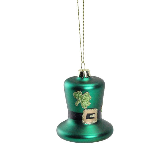 "3"" Luck of the Irish Green and Gold Leprechaun Hat Christmas Ornament"