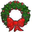 "Load image into Gallery viewer, 15"" Lighted Double-Sided Shimmering Christmas Wreath Window Silhouette"