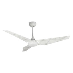 3-Blade, 2154 Lumens Smart Ceiling Fan with LED Light Kit & Remote-White/Marble Pattern