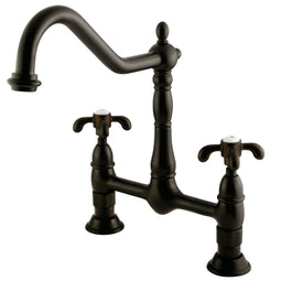 French Country Bridge Kitchen Faucet