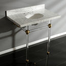 "Load image into Gallery viewer, Templeton 36"" X 22"" Marble Vanity With Sink And Acrylic Feet Combo"