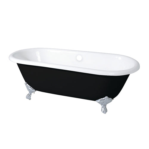 Double Ended Clawfoot Tub with Feet No Faucet Drillings
