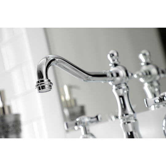 Hamilton Widespread Bathroom Faucet With Brass Pop Up