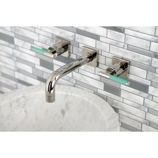 Kaiser Easy Clean Two Handle Wall Mount Bathroom Faucet