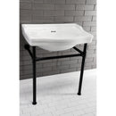 "Load image into Gallery viewer, Fauceture Victorian 30"" x 22"" Ceramic Console Sink Basin, White"