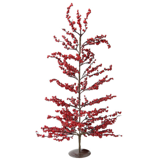"30"" Festive Artificial Red Berries Decorative Christmas Tree - Unlit"