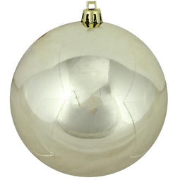 Champagne Gold Shatterproof Shiny Christmas Ball Ornament 4