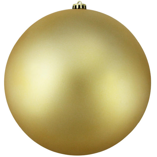 Vegas Gold Shatterproof Matte Christmas Ball Ornament 8