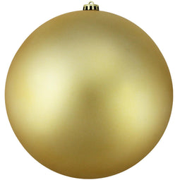 Vegas Gold Shatterproof Matte Christmas Ball Ornament 10