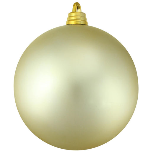Champagne Gold Shatterproof Matte Christmas Ball Ornament 12