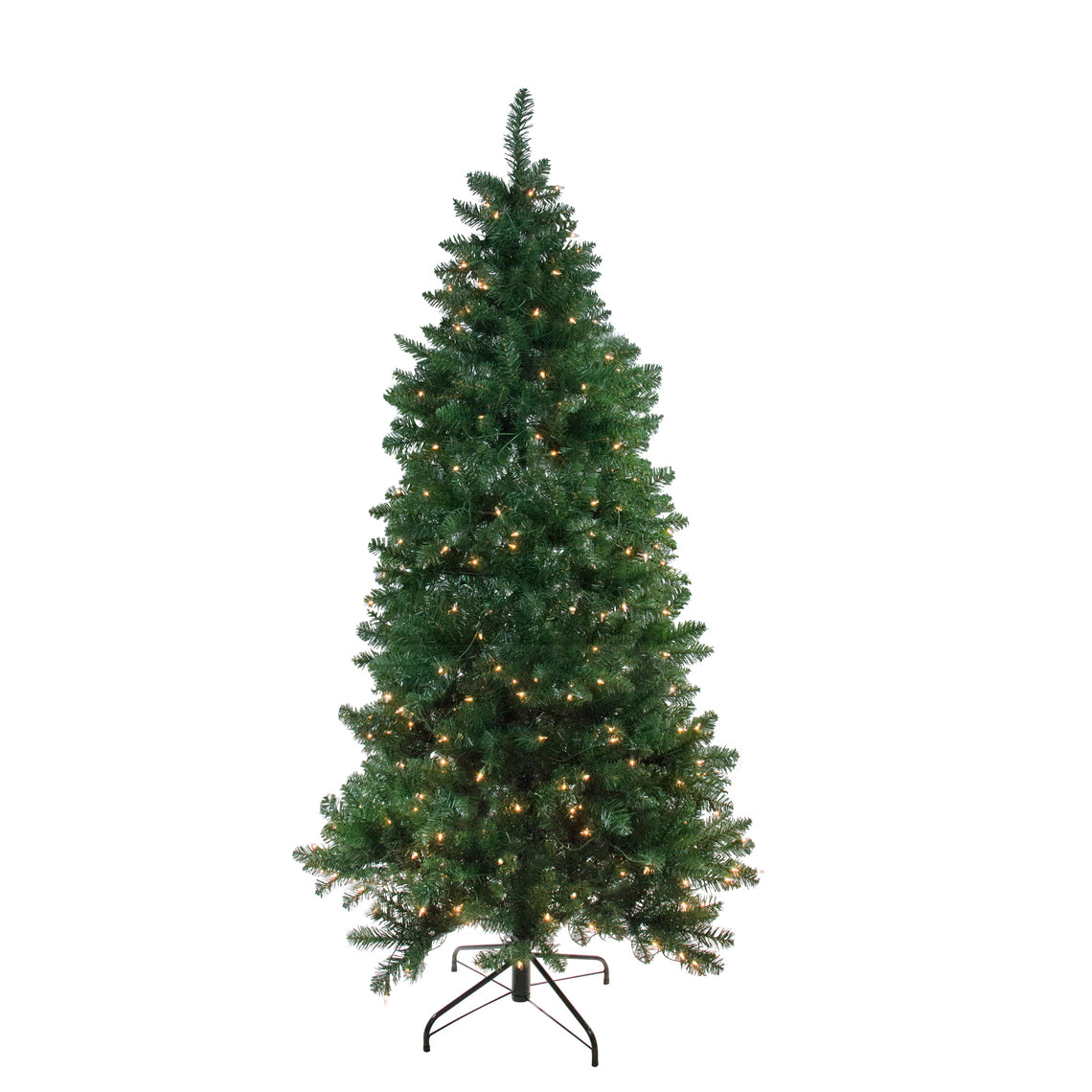 6.5' Pre-Lit Eastern Pine Slim Artificial Christmas Tree - Clear Lights