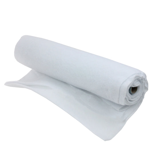 White Artificial Christmas Soft Snow Blanket Roll - 8' x 36
