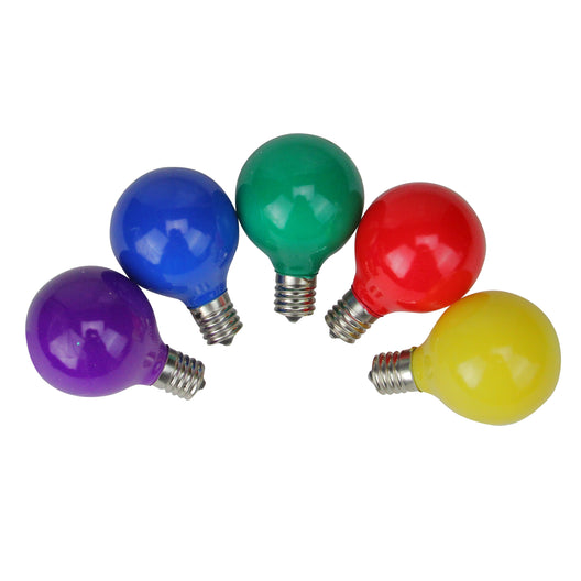 Pack of 10 Multi-Color Satin G50 Globe Christmas Replacement Bulbs