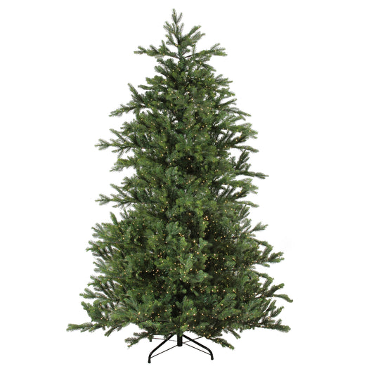 9' Pre-Lit Oregon Noble Fir Artificial Christmas - Warm White LED Lights