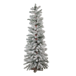 4' Heavily Flocked Artificial Alpine Christmas Tree - Unlit