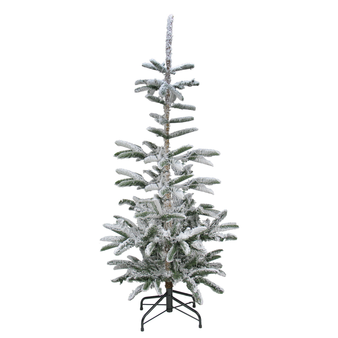 6.5' Flocked Noble Fir Artificial Christmas Tree - Unlit