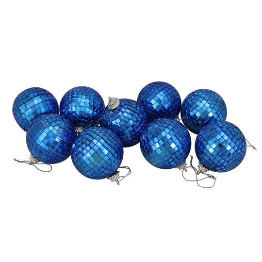 9ct Glass Disco Christmas Ball Ornaments In 2.5""