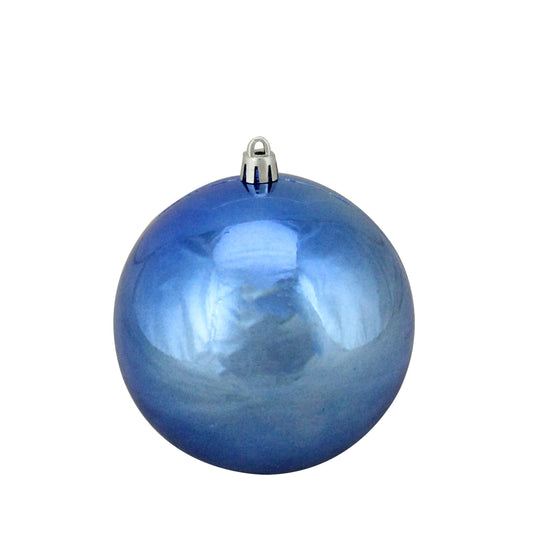 "Northlight Lj34725-Lavish Blue Shatterproof Shiny Christmas Ball Ornament 4"" (100Mm)"