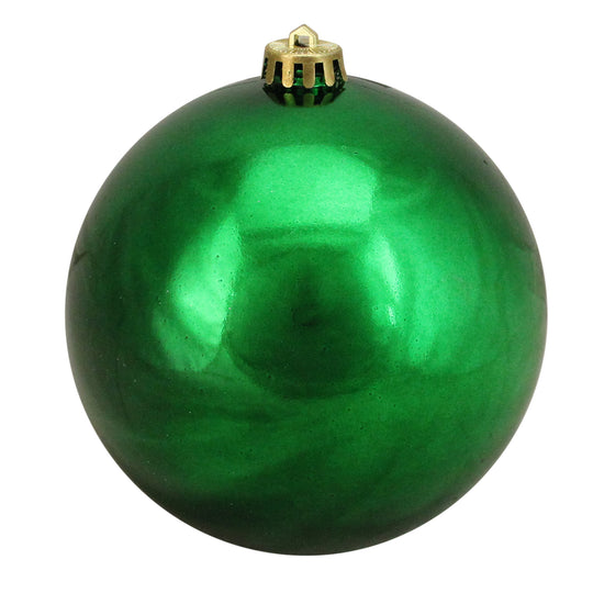 "Northlight Lj34841-Xmas Green Shatterproof Shiny Christmas Ball Ornament 6"" (150Mm)"