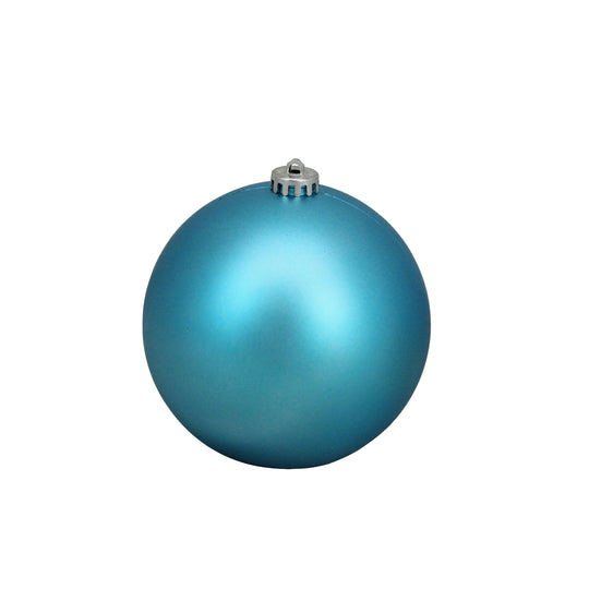 "Turquoise Blue Shatterproof Matte Christmas Ball Ornaments 6"" (150Mm)"