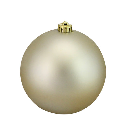 Champagne Gold Shatterproof Matte Christmas Ball Ornament 6