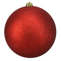 Red Hot Shatterproof Holographic Glitter Christmas Ball Ornament 8