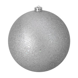 Silver Splendor Shatterproof Holographic Glitter Christmas Ball Ornament 8